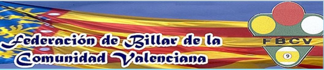 Federación Valenciana de Billar.